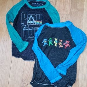 Kids rock and roll tees